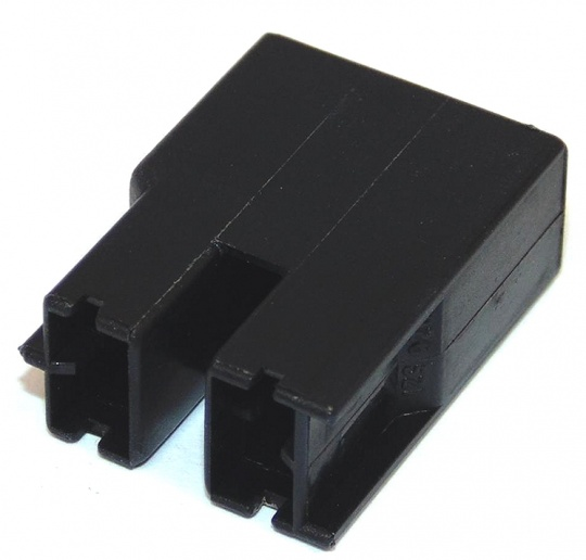 2 Way TE Connectivity Positive Lock 250 Female Black